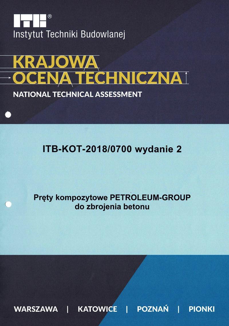 Krajowa Ocena Techniczna - Pręty kompozytowe